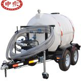 2ton plastic water tank trailer for transportation