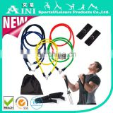 High quality 11pcs latex exercise resistance bands set /exercise resistance bands for yoga