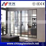 Eco-friendly double glazing tempered glass aluminum profile design almirah sliding door