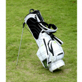 Hot sale black and blue color polyester material golf stand bag golf bag with stand