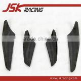 FOR EVO 10 EVO X VA STYLE CARBON FIBER FRONT BUMPER CANARDS 4PCS FOR MITSUBISHI LANCER EVO 10 EVO X