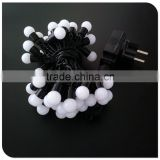 50 LED warm white string lights with ball include an adaptor christmas light outdoor light