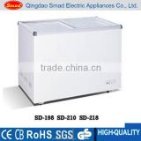 supermarket flat sliding glass lid chest freezer with lock and key                                                                         Quality Choice