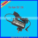 100% new genuine12V 1.5A 18wh notebook adapter charger for Acer A100 A200 A500 A501 tablc pc charger ADP-18AW
