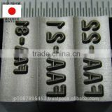 High quality and Original metal marking stamp or punch for hydraulic press 200 ton with durable made in Japan