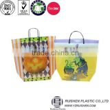 Basket Shape HDPE Printing Logo Shopping Bags Packing Bags