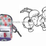 2015 Neoprene popular kids school bag nursery school bag backpack