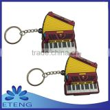 promotional custom made single side soft pvc rubber keychain with customized logo & 3D effect
