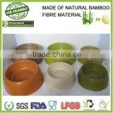 AnHui greenland new round eco-friendly bamboo material pet bowl, bamboo fiber pet cat feeder pot