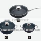 2015 New Products 6PCS German Technique 2.5mm Hard Anodized Aluminium Cookware Set With Casting Handle For Wholesale
