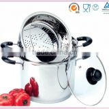 pasta spaghetti Stainless steel pot cookware set(XM-4021)