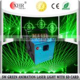 Disco hall design ,sd cards 5 watt green laser light dj club party