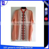 100% silk cdc print square shirt top blouse placement cut for ladys women latest fashion design