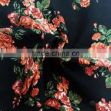 2016 fashion wholesaller 30s rayon crepe fabric woven print fabric cothing fabric