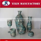 Factory supply 2016 new design mosaic glass furniture vase