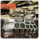 LFGB & FDA Approve Heavy Duty 18/8 Stainless Steel #304 gn pan restaurant food container Gn Pan Gn Container Catering Food