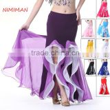2016 High Quality Sexy Cheap Chiffon Belly Dance Skirt for Women Belly Dancing Costume Skirts 9 Colors Available