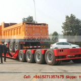 (tractor head optional) hydraulic lowboy Trailer 2 /3/4 axle Lowboy,lowbed semi trailer factory price sale Tom:86-15271357675