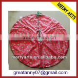 Custom made in china wholesale new design outdoor cheap christmas tree skirts decoration