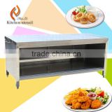 Three tiers Separated assembled adjustable feet handmade stainless steel kitchen cabinet for pantry China with front board