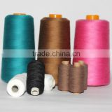 shiny spun 100% polyester sewing thread