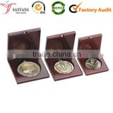 China cheap quality professional wooden medal packaging box for sale