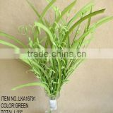 "wholesale cheap new design decorative artificial grass orange flower bush 23"" for house decoration"