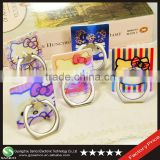 Samco Holographic Blue Light Cute Kitty 360 Degree Rotation Mobile Phone Grip Ring Holder for Smartphones