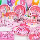 Pink Party Decoration Happy Hanging Birthday Decorations Supplies Kids Sets