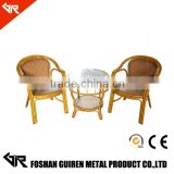 Outdoor Rattan bamboo cafe restaurant Furniture/garden wicker chair outdoor rattan chair