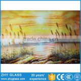 Fusing Decorative Wall Art Float Glass Price 5mm