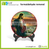 Handmade color spray Jesus image painted table decoration decorative plate religious