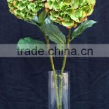 Artificial silk hydrangea flower with round heads for background stage decoration