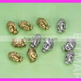 GZKJL-CT0070 New Arrival Fashion Plated-High Quality Gold and Silver Cyrstal Rhinestones Buddha Bead Connector Findings SE438