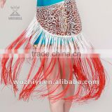 2014 Cheap shinning long tassels belly dance belts hip scarf