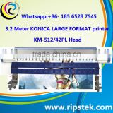 3.2M PVC FLEX BANNER PRINTING MACHINE WITH KONICA KM512/42PL/14PL HEAD