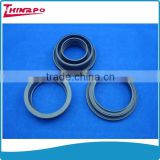 Black heat resistant rubber flat washer screw with rubber washer
