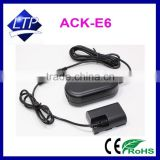 AC Power Adapter ACKE6 charger ,ACK-E6,Battery Coupler DR-E6,LP-E6 for Canon EOS 60D,7D,5D MARK III