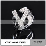 Promise rings jewelry rhodium young boy rings in china mens rings with stones