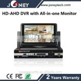 Home security system AHD H 264 4CH CCTV DVR with All-in-one Monitor
