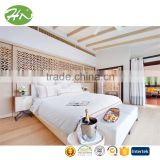wholesale hotel luxury decorative shining imitated silk bed runner