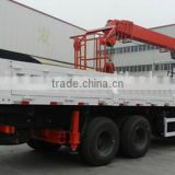 18ton hoisting crane with grab, Model No.:SQ18S5, hydraulic telescopic boom crane on truck or boat