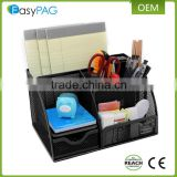 Factory wholesale price black color modern office mesh desk supplies organizer document tray