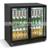 Two Glass Doors Mini Bar Fridge/refrigerator(CE approval)