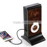 table menu 20800mAh long lasting high capacity restaurant table coffee anti theft mobile charger