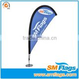 Teardrop banners for advertising by customize