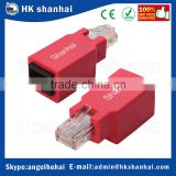 High speed network male to female ethernet rj45 connector low price cat 5e cat 6 ethernet crossover adapter extension cable