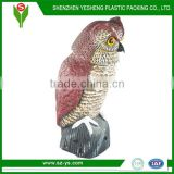 Plastic Garden Owl Decoy with Rotating Head