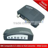 BNC Composite & S-video to VGA Converter - Wide Screen S-video to VGA Converter and BNC Composite