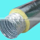 Hydroponics Acoustic insulated flexible duct with aluminum foil yellow fiberglass for Greenhouse air ducting ventilation system